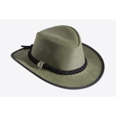 Mongo Leather Country Hat Groen