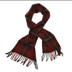 Mongo Lamswollen sjaal Dark  Maple