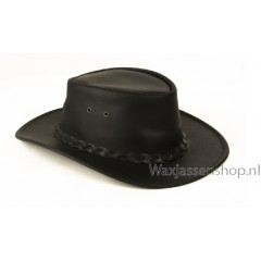 Scippis Bushman leren hoed Zwart